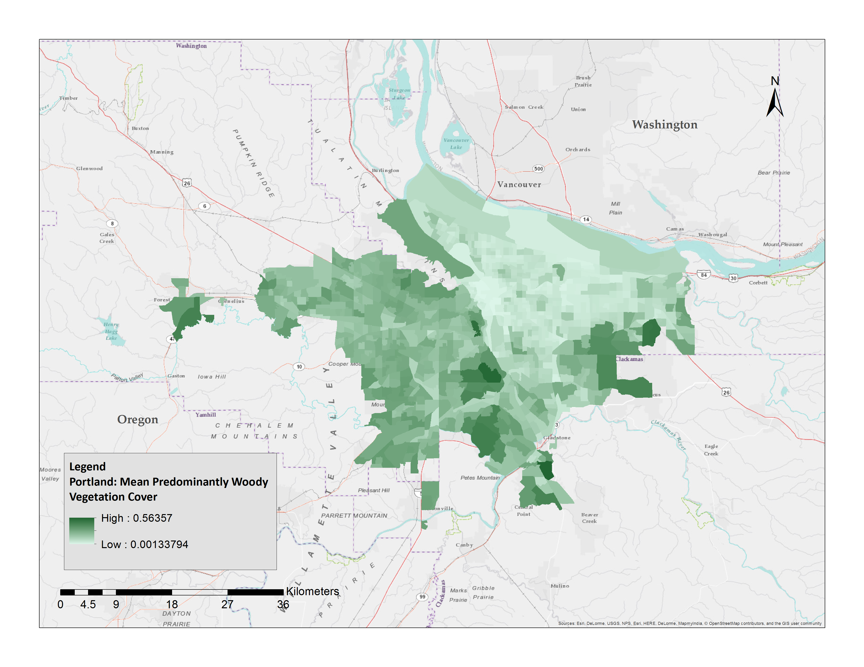 Aerial imagery and census data are used to map urban green inequity in metro areas.